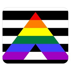 Straight Ally Flag Double Sided Flano Blanket (small)  by Valentinaart