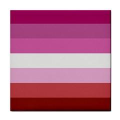 Lesbian Pride Flag Face Towel by Valentinaart