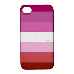 Lesbian Pride Flag Apple Iphone 4/4s Hardshell Case With Stand by Valentinaart