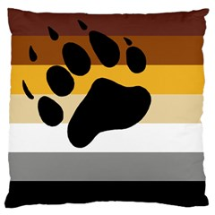 Bear Pride Flag Standard Flano Cushion Case (one Side) by Valentinaart