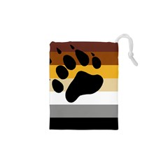 Bear Pride Flag Drawstring Pouches (xs)  by Valentinaart