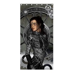 Steampunk, Steampunk Lady, Clocks And Gears In Silver Shower Curtain 36  X 72  (stall)  by FantasyWorld7