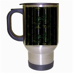 Bamboo Pattern Travel Mug (silver Gray) by ValentinaDesign