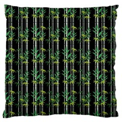 Bamboo Pattern Large Cushion Case (one Side) by ValentinaDesign
