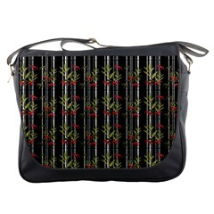 Bamboo Pattern Messenger Bags by ValentinaDesign