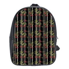 Bamboo Pattern School Bag (xl) by ValentinaDesign