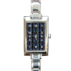 Bamboo Pattern Rectangle Italian Charm Watch by ValentinaDesign