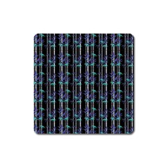 Bamboo Pattern Square Magnet by ValentinaDesign