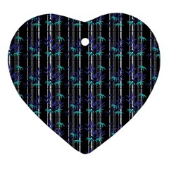 Bamboo Pattern Heart Ornament (two Sides) by ValentinaDesign