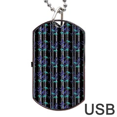 Bamboo Pattern Dog Tag Usb Flash (one Side) by ValentinaDesign