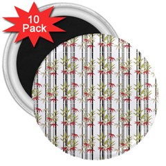 Bamboo Pattern 3  Magnets (10 Pack)  by ValentinaDesign