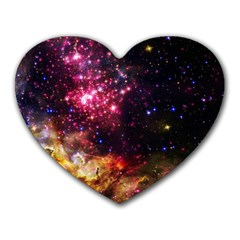 Space Colors Heart Mousepads by ValentinaDesign