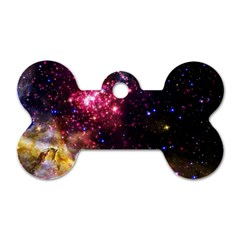 Space Colors Dog Tag Bone (one Side) by ValentinaDesign