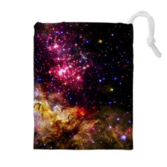 Space Colors Drawstring Pouches (extra Large) by ValentinaDesign