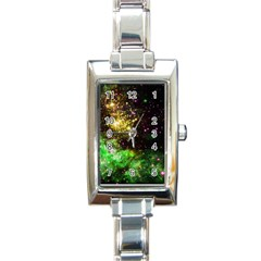 Space Colors Rectangle Italian Charm Watch by ValentinaDesign