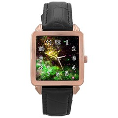 Space Colors Rose Gold Leather Watch  by ValentinaDesign