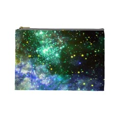 Space Colors Cosmetic Bag (large)  by ValentinaDesign