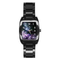 Space Colors Stainless Steel Barrel Watch by ValentinaDesign