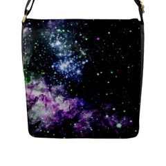 Space Colors Flap Messenger Bag (l)  by ValentinaDesign