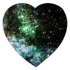 Space Colors Jigsaw Puzzle (heart) by ValentinaDesign