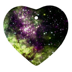 Space Colors Ornament (heart) by ValentinaDesign