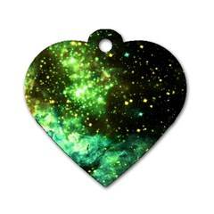 Space Colors Dog Tag Heart (one Side) by ValentinaDesign