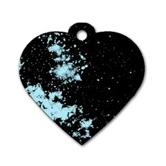 Space Colors Dog Tag Heart (two Sides) by ValentinaDesign