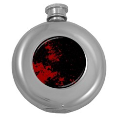 Space Colors Round Hip Flask (5 Oz) by ValentinaDesign