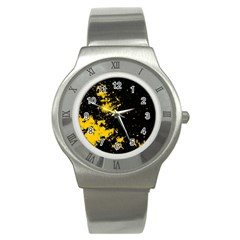 Space Colors Stainless Steel Watch by ValentinaDesign