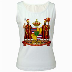 Kingdom Of Hawaii Coat Of Arms, 1795 1850 Women s White Tank Top by abbeyz71
