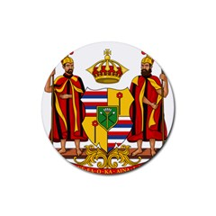 Kingdom Of Hawaii Coat Of Arms, 1795 1850 Rubber Coaster (round)  by abbeyz71