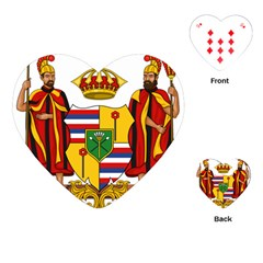 Kingdom Of Hawaii Coat Of Arms, 1795 1850 Playing Cards (heart)  by abbeyz71