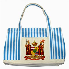 Kingdom Of Hawaii Coat Of Arms, 1795 1850 Striped Blue Tote Bag by abbeyz71