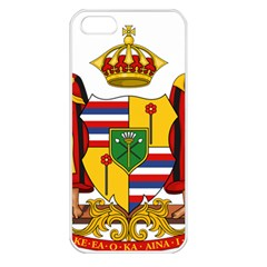 Kingdom Of Hawaii Coat Of Arms, 1795 1850 Apple Iphone 5 Seamless Case (white) by abbeyz71