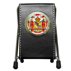 Kingdom Of Hawaii Coat Of Arms, 1850 1893 Pen Holder Desk Clocks by abbeyz71