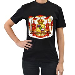 Kingdom Of Hawaii Coat Of Arms, 1850 1893 Women s T Shirt (black) (two Sided) by abbeyz71