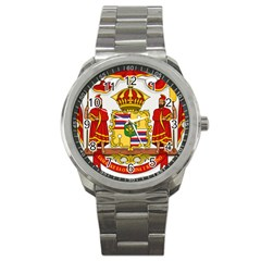 Kingdom Of Hawaii Coat Of Arms, 1850 1893 Sport Metal Watch by abbeyz71