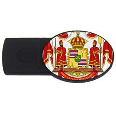 Kingdom Of Hawaii Coat Of Arms, 1850 1893 Usb Flash Drive Oval (4 Gb) by abbeyz71