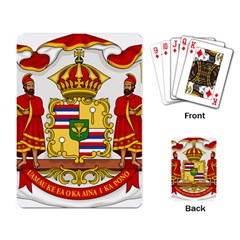Kingdom Of Hawaii Coat Of Arms, 1850 1893 Playing Card by abbeyz71