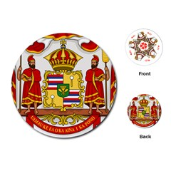 Kingdom Of Hawaii Coat Of Arms, 1850 1893 Playing Cards (round)  by abbeyz71