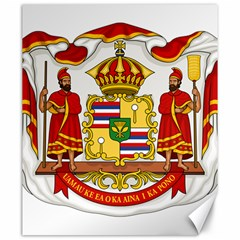 Kingdom Of Hawaii Coat Of Arms, 1850 1893 Canvas 20  X 24   by abbeyz71