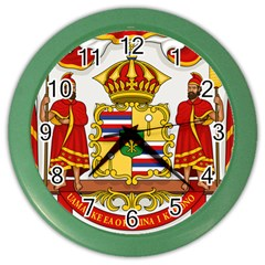 Kingdom Of Hawaii Coat Of Arms, 1850 1893 Color Wall Clocks by abbeyz71