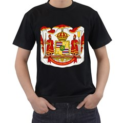 Kingdom Of Hawaii Coat Of Arms, 1850 1893 Men s T Shirt (black) by abbeyz71