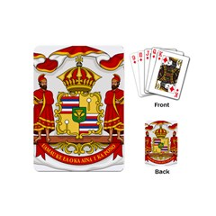 Kingdom Of Hawaii Coat Of Arms, 1850 1893 Playing Cards (mini)  by abbeyz71