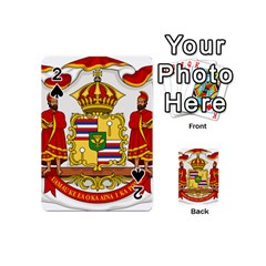 Kingdom Of Hawaii Coat Of Arms, 1850 1893 Playing Cards 54 (mini)  by abbeyz71
