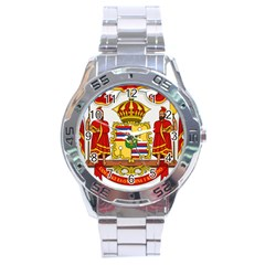Kingdom Of Hawaii Coat Of Arms, 1850 1893 Stainless Steel Analogue Watch by abbeyz71