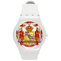 Kingdom Of Hawaii Coat Of Arms, 1850 1893 Round Plastic Sport Watch (m) by abbeyz71