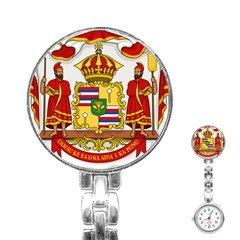 Kingdom Of Hawaii Coat Of Arms, 1850 1893 Stainless Steel Nurses Watch by abbeyz71