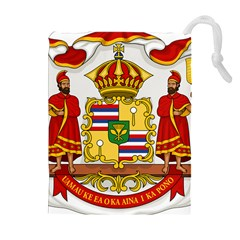 Kingdom Of Hawaii Coat Of Arms, 1850 1893 Drawstring Pouches (extra Large) by abbeyz71