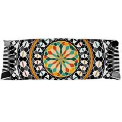 High Contrast Mandala Body Pillow Case (dakimakura) by linceazul